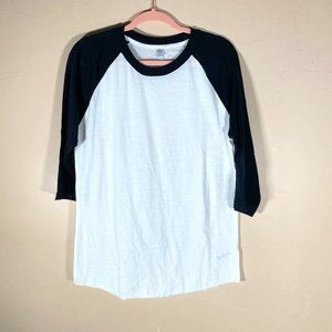 Alternative Apparel Baseball Raglan Tee Size Large